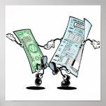 Diseño feliz del reembolso del impuesto poster