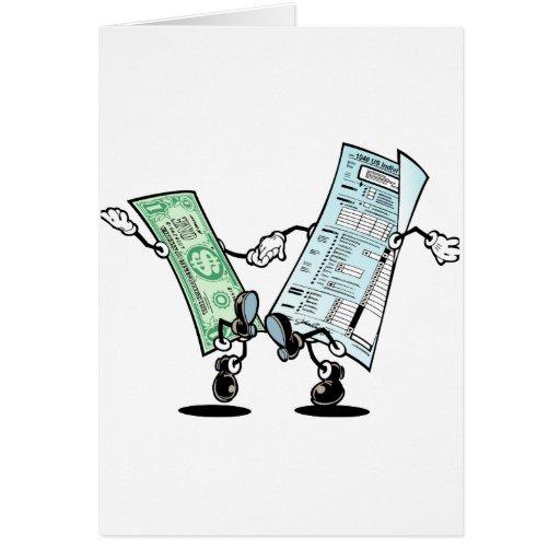 Diseño feliz del reembolso del impuesto felicitaciones