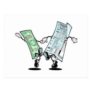 Diseño feliz del reembolso del impuesto tarjetas postales