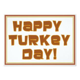 Diseño feliz del texto del día de Turquía Invitaciones Personales