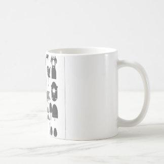Diseño feliz del vector del bosque tazas de café