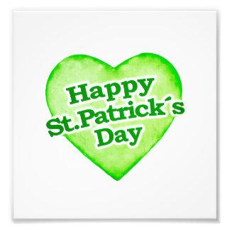 Diseño feliz único del día de los ´s de St Patrick Arte Fotografico