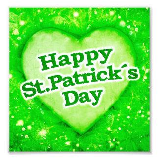 Diseño feliz único del día de los ´s de St Patrick Fotografía