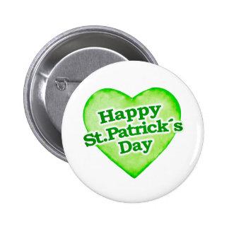 Diseño feliz único del día de los ´s de St Patrick Pin Redondo De 2 Pulgadas