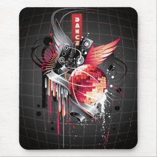 Diseño femenino abstracto enrrollado de la música  mouse pad