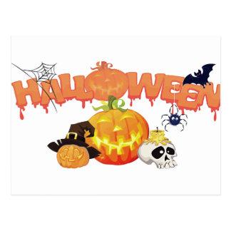Diseño festivo de Halloween Tarjeta Postal