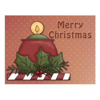 Diseño festivo de la vela postales