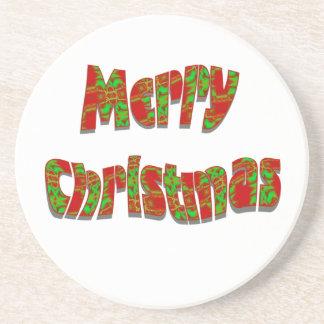 Diseño festivo de las Felices Navidad Posavasos Personalizados