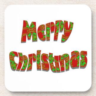 Diseño festivo de las Felices Navidad Posavasos