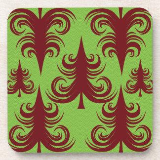 Diseño festivo de Navidad del árbol de navidad del Posavaso