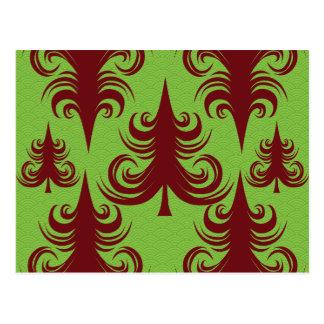 Diseño festivo de Navidad del árbol de navidad del Postales