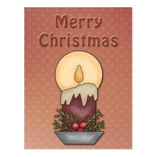 Diseño festivo hermoso de la vela tarjeta postal