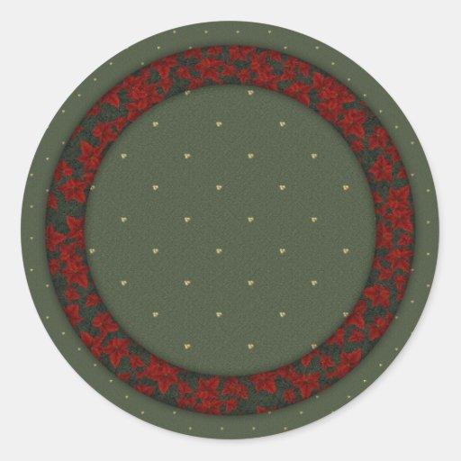 Diseño festivo pegatina redonda
