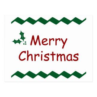 Diseño festivo simple de las Felices Navidad Tarjetas Postales