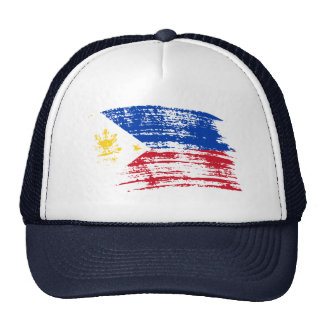 Diseño filipino fresco de la bandera gorro de camionero