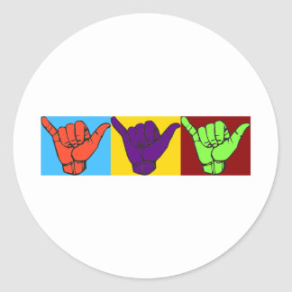 Diseño flojo de Warhol de la caída Pegatina