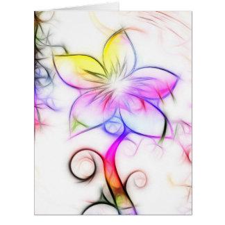 Diseño floral 05 tarjeta de felicitación grande