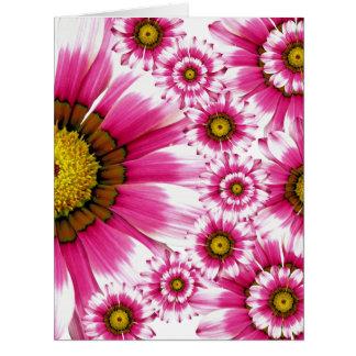 Diseño floral 07 tarjeta de felicitación grande