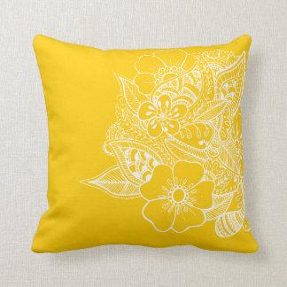 Diseño floral 1 - amarillo almohadas