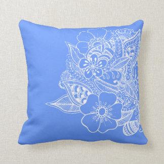 Diseño floral 1 - azul almohada