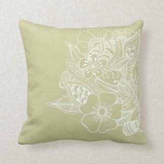 Diseño floral 1 - beige almohadas