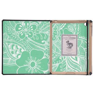 diseño floral 1 - Menta iPad Cárcasas