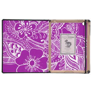 diseño floral 1 - Purpúreo claro iPad Protector