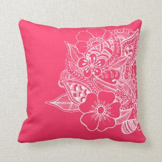 Diseño floral 1 - rosa cojines