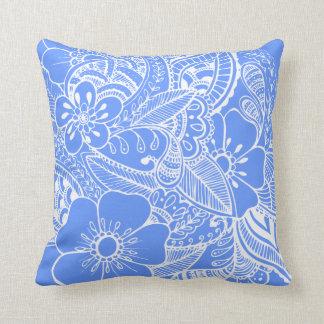 Diseño floral 2 - azul almohadas
