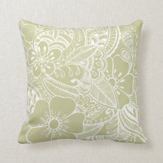 Diseño floral 2 - beige cojines