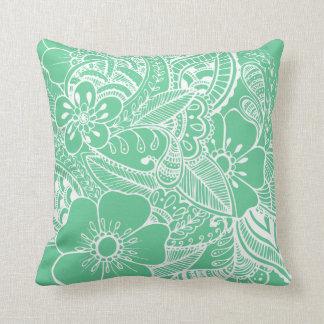Diseño floral 2 - menta almohadas