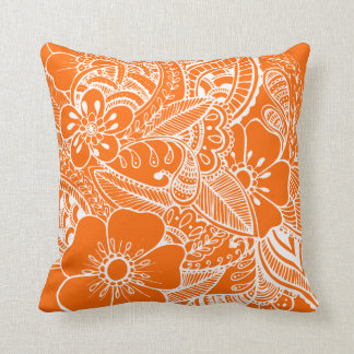 Diseño floral 2 - naranja almohadas