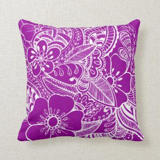Diseño floral 2 - purpúreo claro almohadas