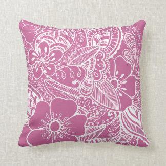 Diseño floral 2 - rosa cojin