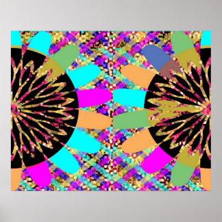 Diseño floral 4 del diamante impresiones