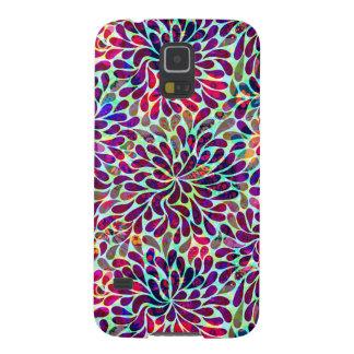 Diseño floral abstracto colorido carcasa para galaxy s5