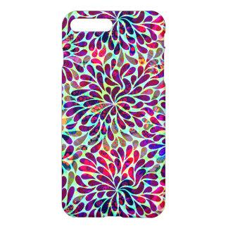 Diseño floral abstracto colorido funda para iPhone 7 plus