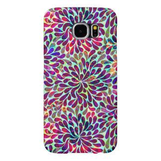Diseño floral abstracto colorido fundas samsung galaxy s6