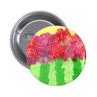Diseño floral abstracto de la pintura original pin redondo 5 cm