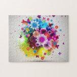 Diseño floral abstracto - puzzle