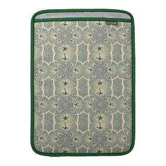 Diseño floral abstracto verde del vintage fundas macbook air