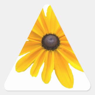 Diseño floral amarillo de la margarita calcomanías trianguladas personalizadas