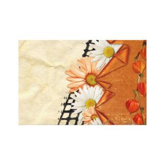 Diseño floral artístico impresión de lienzo