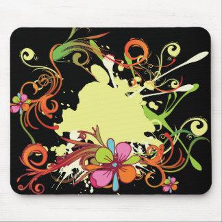 diseño floral artsy del vector de la dicha tapete de ratones