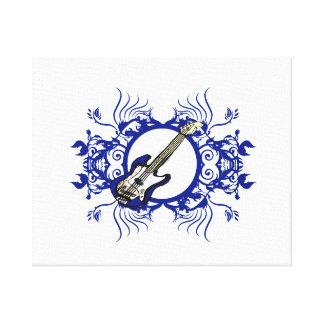 Diseño floral azul bajo azul del círculo impresiones de lienzo