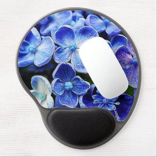 Diseño floral azul suave abstracto elegante alfombrilla de ratón con gel