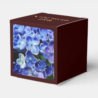 Diseño floral azul suave abstracto elegante caja para regalo de boda