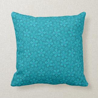 Diseño floral azulverde almohadas