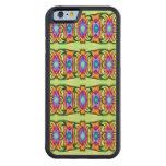 Diseño floral azulverde de lujo funda de iPhone 6 bumper arce