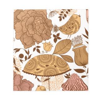 diseño floral beige bloc